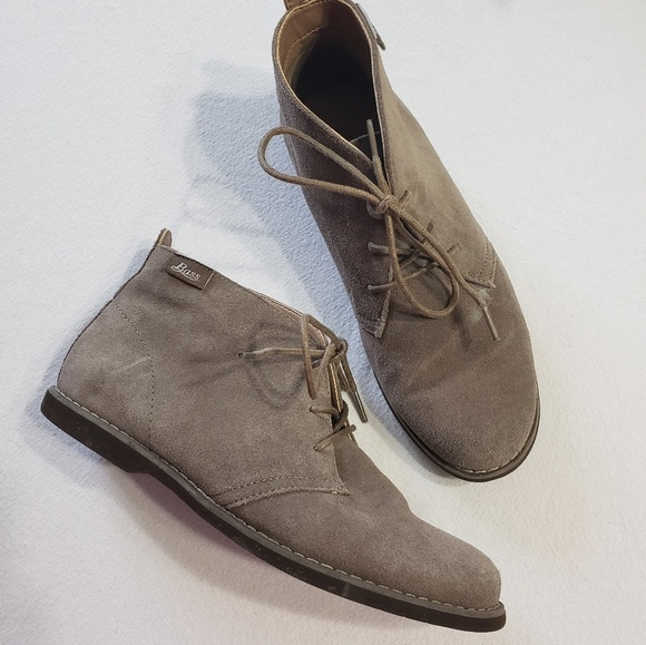 Bass Shoes - GH Bass & Co taupe suede Elyse booties